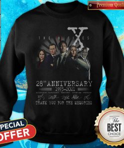 The X Files 28th Anniversary 1993 2021 Thank You For The Memories Signatures Sweatshirt