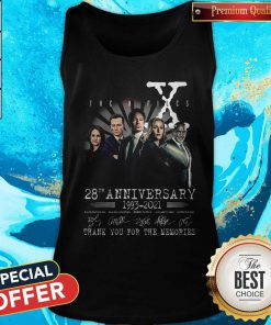 The X Files 28th Anniversary 1993 2021 Thank You For The Memories Signatures Tank Top