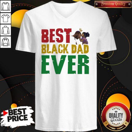 Top Best Black Dad Ever V-neck