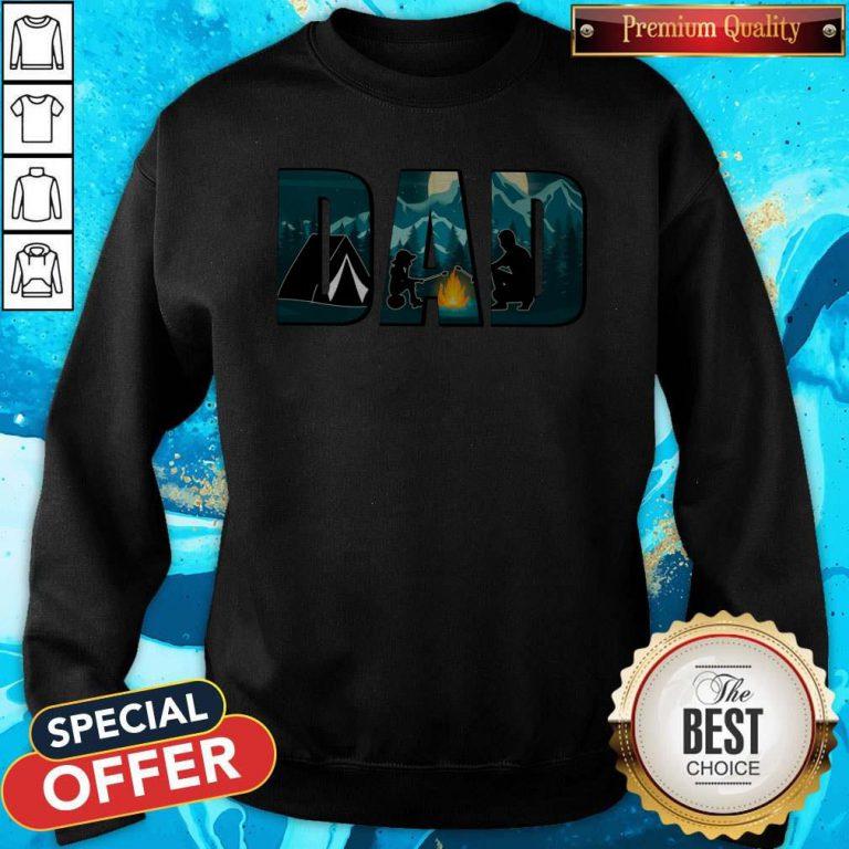 Top Dad Camping Sweatshirt