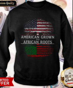 Tree American Grown With African Roots American Flag Independence Day Sweatshirt