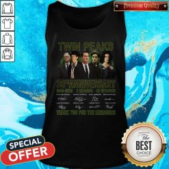 Twin Peaks 30th Anniversary 1990 2020 3 Seasons 48 Episodes Thank You For The Memories Signatures Tank Top