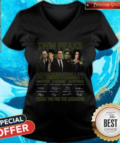Twin Peaks 30th Anniversary 1990 2020 3 Seasons 48 Episodes Thank You For The Memories Signatures V- neck