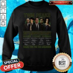 Twin Peaks 30th Anniversary 1990 2020 3 Seasons 48 Episodes Thank You For The Memories Signatures Sweatshirt