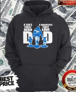USPS A Son's First Hero Dad A Daughter's First Love Hoodie