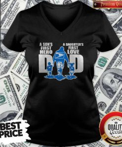 USPS A Son's First Hero Dad A Daughter's First Love V-neck