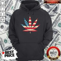 Weed Happy The 4th Of July America Hoodie