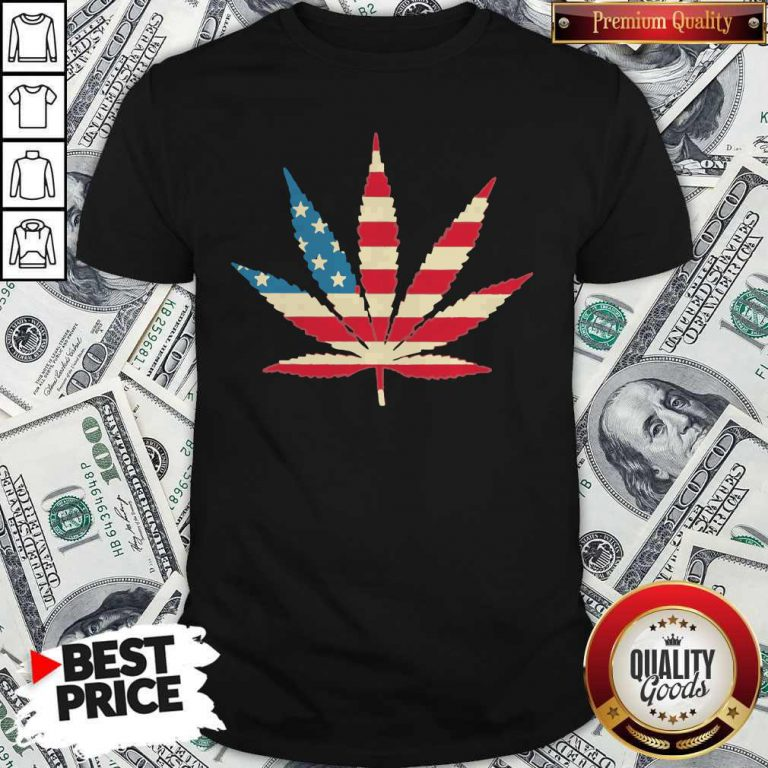 Weed Happy The 4th Of July America Shirt