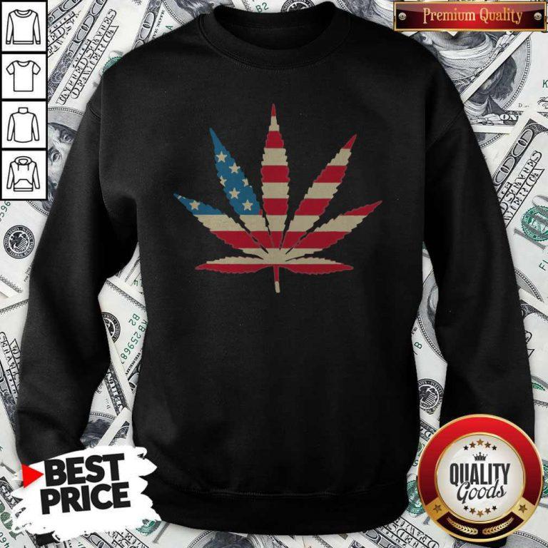 Weed Happy The 4th Of July America Sweatshirt