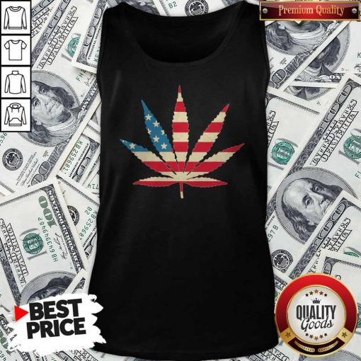 Weed Happy The 4th Of July America Tank Top