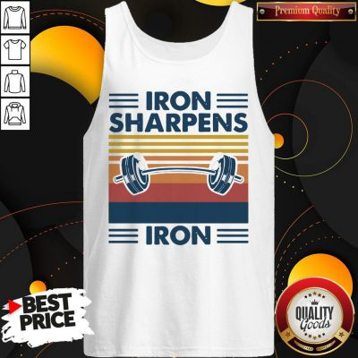Weight Lifting Iron Sharpens Iron Vintage Tank Top