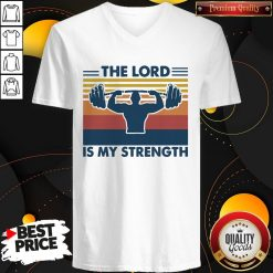 Weight Lifting The Lord Is My Strength Vintage V- neck