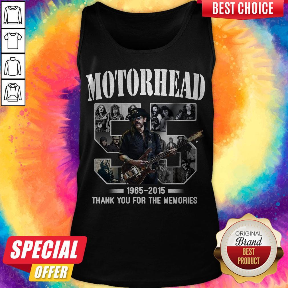 55 years of Motorhead 1965 2015 Thank You For The Memories Tank Top