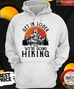 Alien Camping Get In Loser We're Going Hiking Moon Hoodie