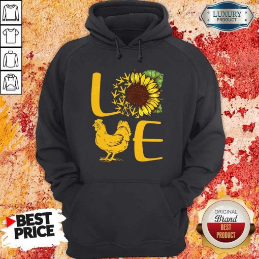 Awesome Love Sunflower Chicken Tee Hoodiea