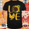 Awesome Love Sunflower Chicken Tee Shirt
