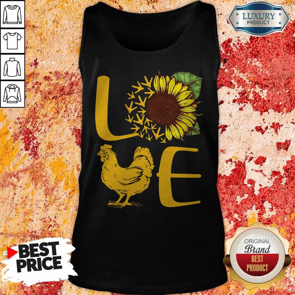 Awesome Love Sunflower Chicken Tee Tank Top