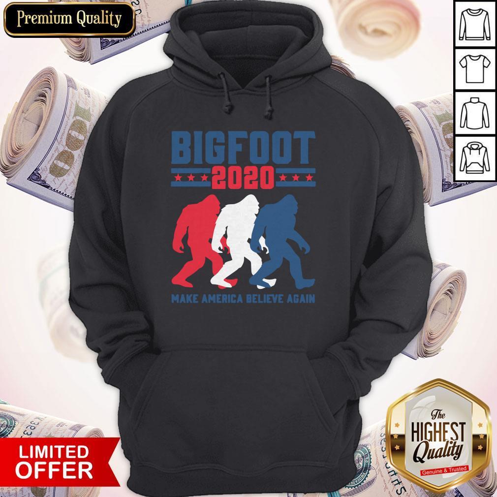 Bigfoot 2020 Make America Believe Again Hoodiea
