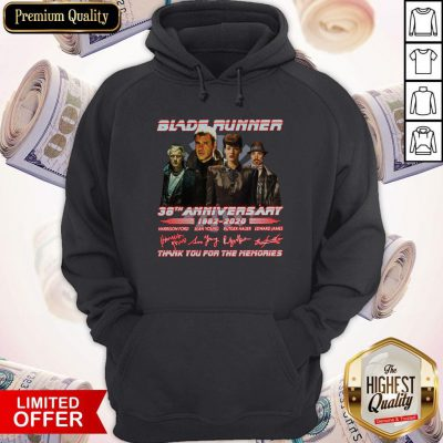 Blade Runner 38th Anniversary 1982 2020 Thank You For The Memories Signatures Hoodiea