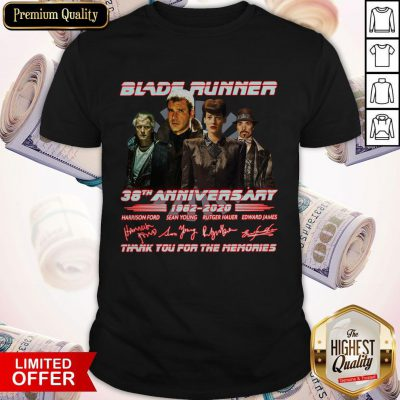 Blade Runner 38th Anniversary 1982 2020 Thank You For The Memories Signatures Shirt