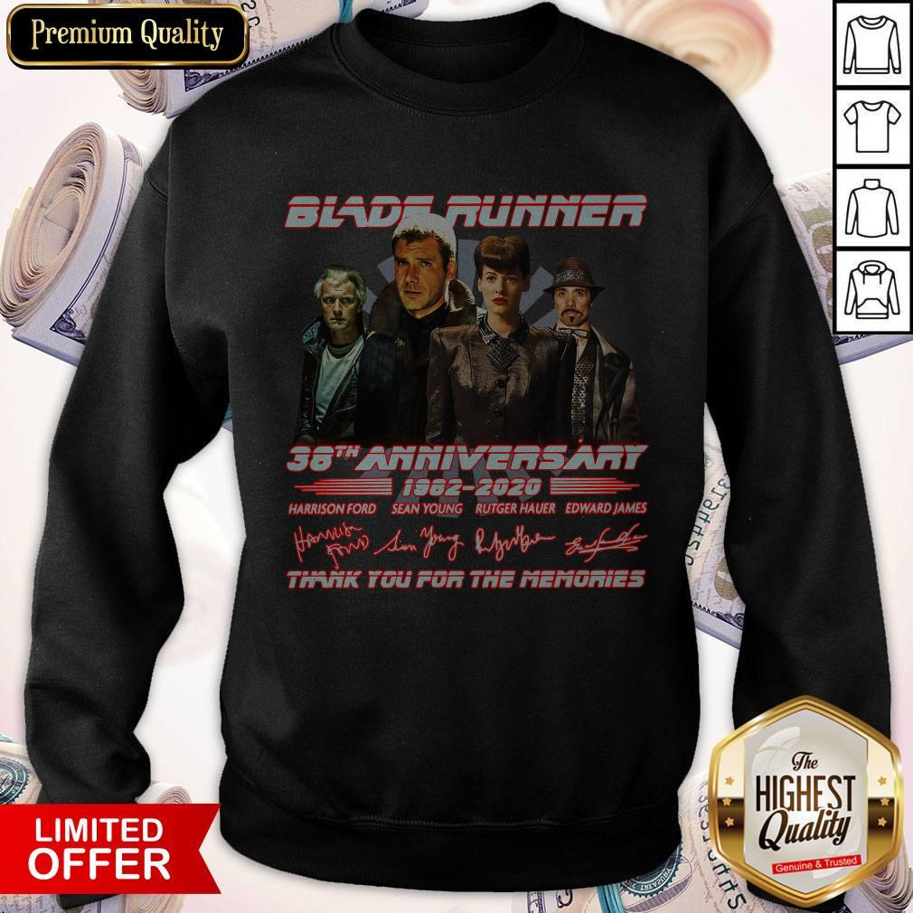 Blade Runner 38th Anniversary 1982 2020 Thank You For The Memories Signatures weatshirt