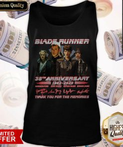 Blade Runner 38th Anniversary 1982 2020 Thank You For The Memories Signatures Tank Top