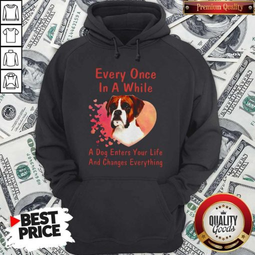 Boxer Every Once In A While A Dog Enters Your Life And Changes Hoodiea