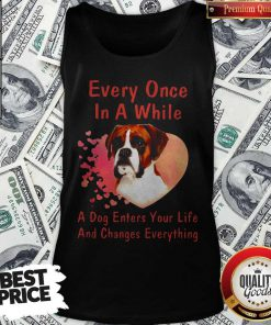 Boxer Every Once In A While A Dog Enters Your Life And Changes Tank Top