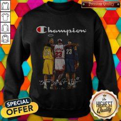 Champion Lebron James Kobe Bryant And Michael Jordan Signatures weatshirt