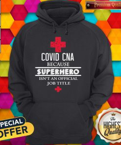 Covid CNA Because Superhero Isn't An Official Job Title Hoodie