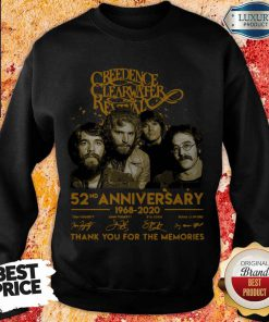 Creedence Clearwater Rewal 52nd Anniversary 1968 2020 Signatures Thank You For The Memories weatshirt