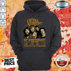 Creedence Clearwater Rewal 52nd Anniversary 1968 2020 Signatures Thank You For The Memories Hoodie