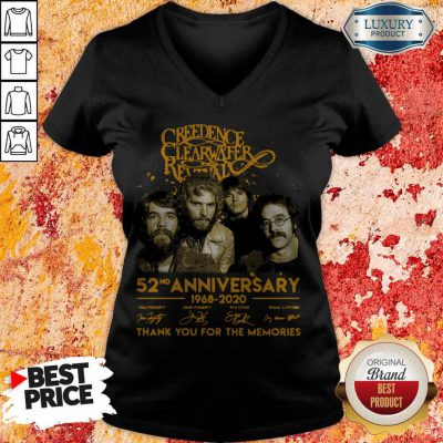 Creedence Clearwater Rewal 52nd Anniversary 1968 2020 Signatures Thank You For The Memories V- neck