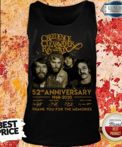 Creedence Clearwater Rewal 52nd Anniversary 1968 2020 Signatures Thank You For The Memories Tank Top