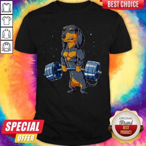 Dachshund Weightlifting Fitness Gym Shirt