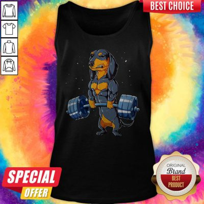 Dachshund Weightlifting Fitness Gym Tank Top