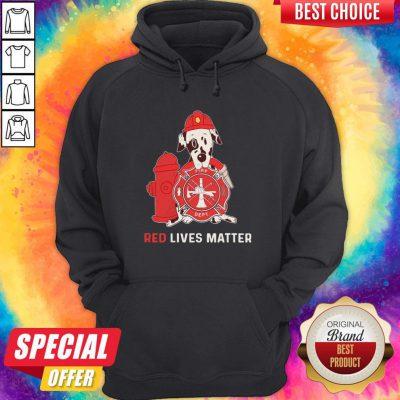 Dalmatian Dog Fire Dept Red Lives Matter Hoodiea