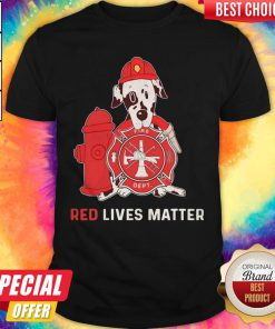 Dalmatian Dog Fire Dept Red Lives Matter Shirt
