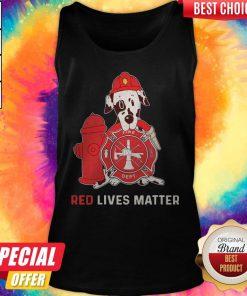 Dalmatian Dog Fire Dept Red Lives Matter Tank Top