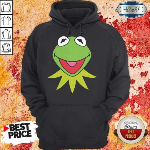Disney Muppets Kermit The Frog Face Hoodie