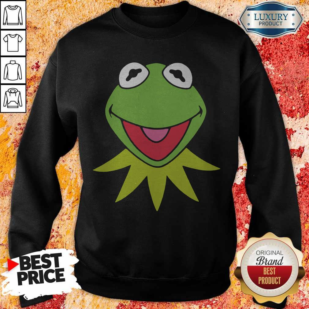 Disney Muppets Kermit The Frog Face weatshirt