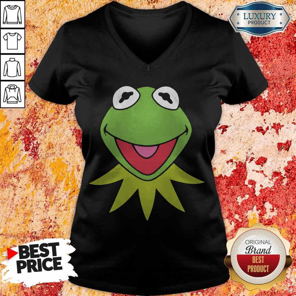 Disney Muppets Kermit The Frog Face V- neck