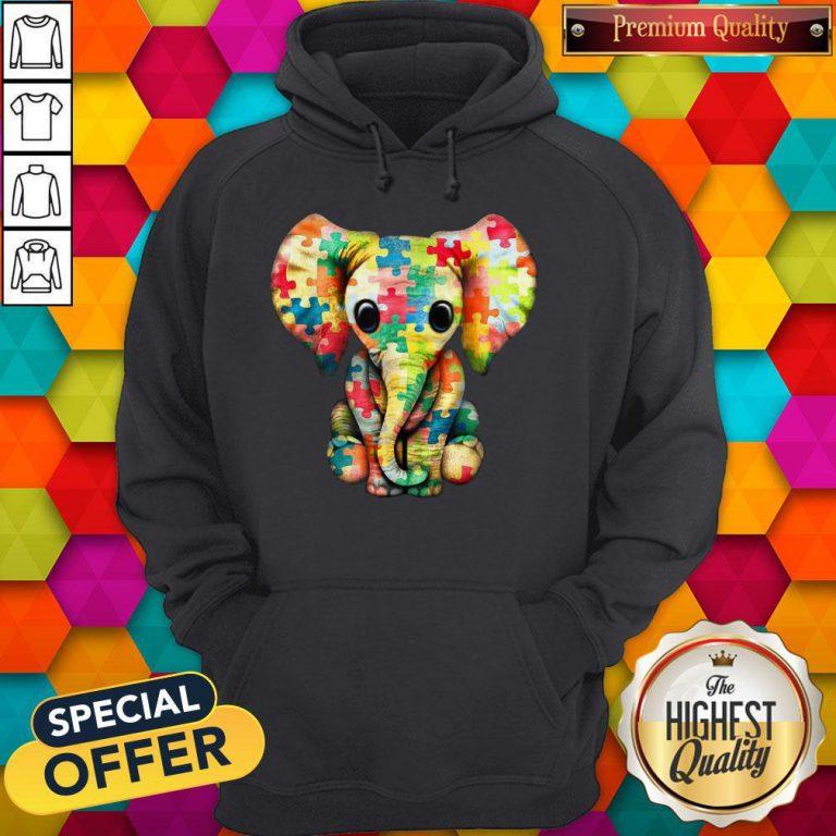 Elephant Autism world Autism Awareness Day Gift Hoodie