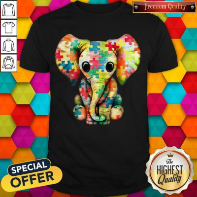 Elephant Autism world Autism Awareness Day Gift Shirt