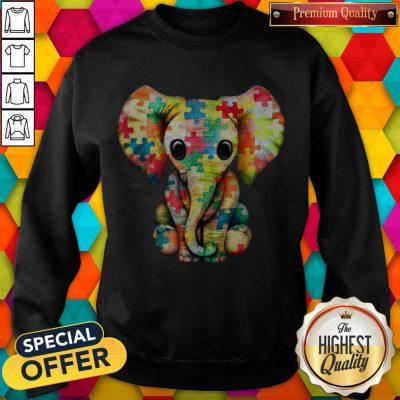 Elephant Autism world Autism Awareness Day Gift weatshirt