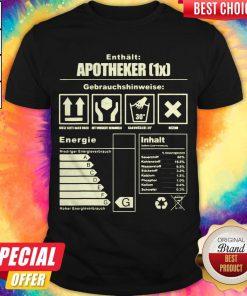 Enthlt Apotheker Gebrauchshinweise Energieinhalt Shirt