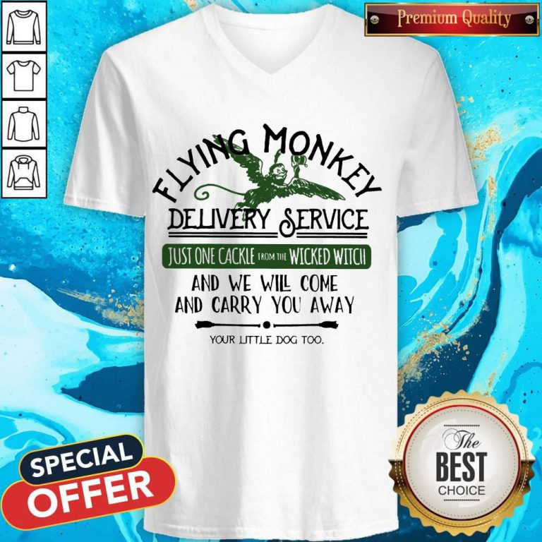 Flying Monkey Delivery Service And We Will Come And Carry You Away V- neck