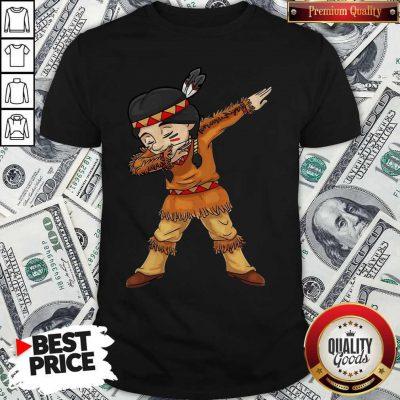 Funny Dabbing Native American Pilgrim Shirt