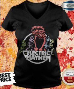 Funny Electric Mayhem V- neck
