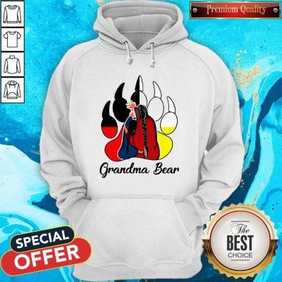 Funny Native Grandma Bear Hoodie